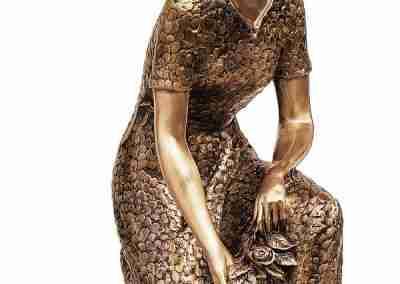 bronze statue lady